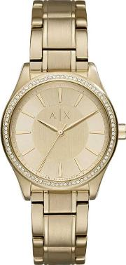 Ladies Gold Plated Bracelet Watch Ax5441