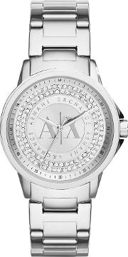 Ladies Silver Stone Dial Bracelet Watch Ax4320