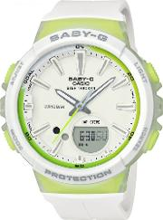 Ladies Baby G Fitness White Step Tracker Watch Bgs 100 7a2er
