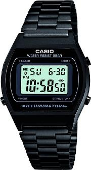 Mens  Collection Black Steel Digital Display Watch B640wb 1aef