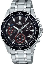 Mens Edifice Black Dial Bracelet Watch Efv 540d 1avuef