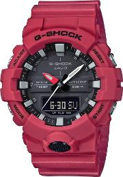 Mens G Shock Classic Red Digital Watch Ga 800 4aer