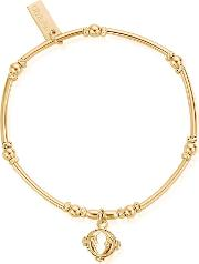 Ariella Gold Plated Double Moon Bracelet Gbmnr1035