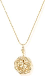 Ariella Gold Plated Flower Coin Necklace Gnczs1016