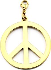Cloud9 Gold Plated Large Peace Pendant Charm Gp114
