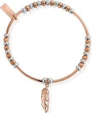 Inner Spirit Two Tone Feather Bracelet Mbsbnh571