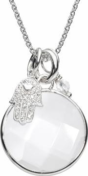 Silver Clear Mind Clear Round Pendant Crnm38silv26 40