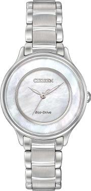 Ladies Circle Of Time Mother Of Pearl Bracelet Watch Em0380 81d