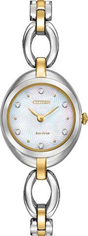 Ladies Round Crystal Watch Ex1434 55d