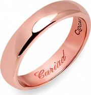 9ct Rose Gold 4mm Cariad Wedding Ring Wed4dr L