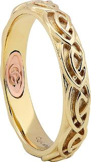 9ct Two Colour Gold Annwyl Celtic 4mm Ring Cwed4o
