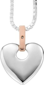 Silver 9ct Rose Gold Cariad Pendant Sca010