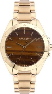 Ladies Gold Plated Stainless Steel Watch 14502053