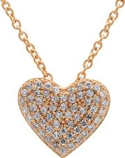 Simply Pave Heart Necklace 8010442n16cz