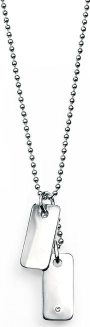 Silver Boys Double Dogtag Necklace N2633