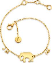 'good Karma' Gold Plated Elephant Good Karma Bracelet Kbr4012