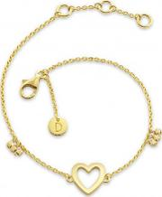 'good Karma' Gold Plated Open Heart Bracelet Kbr4002