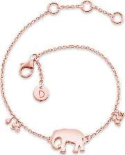 'good Karma' Rose Gold Plated Elephant Good Karma Bracelet Kbr5012