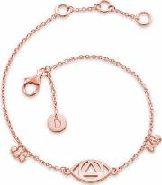 'good Karma' Rose Gold Plated Evil Eye Bracelet Kbr5013