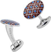 Domed Red And Blue Dot Cufflinks C0694s0802