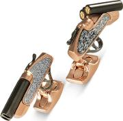 Rose Gold Shotgun Cufflinks Bmc1309c0001