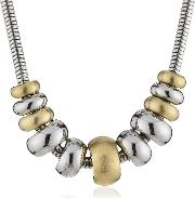 Stainless Steel Gold Plated Rings Necklace Nj1972040