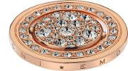 Hot Diamonds Emozioni Rose Gold Plated Water And Air 33mm Coin Ec243
