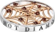 Hot Diamonds Emozioni Rose Gold Plated Web Red Cubic Zirconia 33mm Coin Ec111