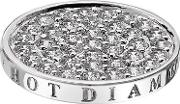 Hot Diamonds Emozioni Silver Plated Ice Clear Cubic Zirconia 25mm Coin Ec049