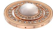 Hot Diamonds  Rose Gold Plated Sea And Clouds 33mm Coin Ec238