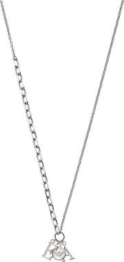 Essential Sterling Silver Mother Of Pearl Ea Necklace Eg3386040