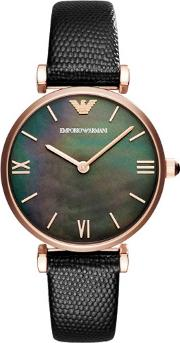 Ladies Rose Gold Plated Strap Watch Ar11060