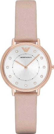 Ladies Rose Gold Plated Strap Watch Ar2510
