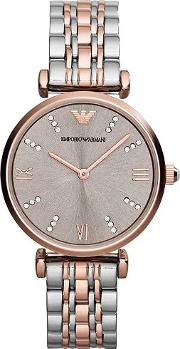 Ladies T Bar Rose Gold Bracelet Watch Ar1840