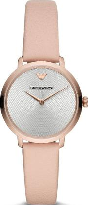 Rose Gold Plated Nude Strap Watch Ar11160