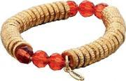 Gold Plated Red Beads Sweetie Bracelet B4036