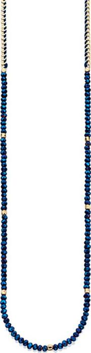 Ladies Blue Beaded Necklace N3933