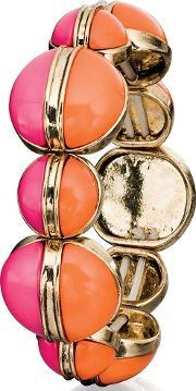 Ladies Orange And Pink Circle Bangle B4772