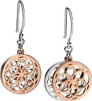 Ladies Silver And Gold Disc Earrings E4800