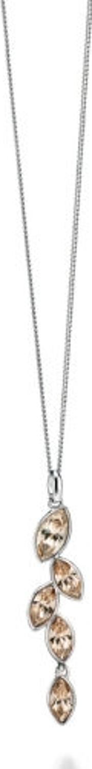 Silver Champagne Marquise Crystal Pendant P4078