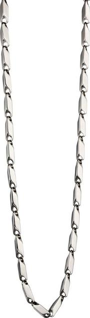 Mens Stainless Steel Tube Link Necklace N4147