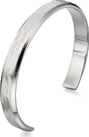Stainless Steel Hammered Effect Bangle B4724
