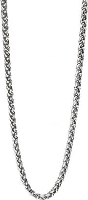 Stainless Steel Plaited Chain Necklace N4209