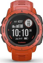 Instinct Flame Red Rubber Strap Smartwatch 010 02064 02