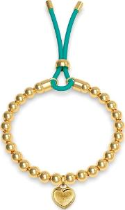 Be My Friend Gold Plated Beaded Heart Toggle Bracelet Ubb78041