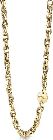 Chain Reaction Gold Plated Necklace Ubn29039