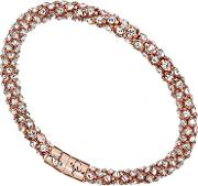 Jewellery Rose Gold Plated Steel Pave Crystal Bangle Ubb81334