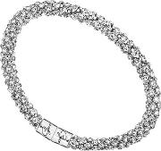 Jewellery Stainless Steel Pave Crystal Bangle Ubb81332