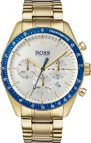 Mens Trophy Gold Toned Chronograph Watch 1513631