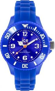 Ice Watch Mini Blue Rubber Strap Round Blue Watch Si.be.m.s.13